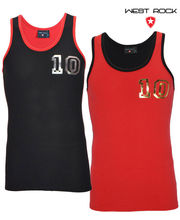 West Rock Athletic Stretch Vest -Set Of 2Pcs (Multicolor, M)