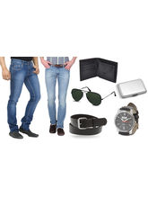 Stylox pack of 2 denims with Accessories, 32
