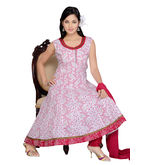 Designer Idha Anarkali suit for women - BA197, white, l