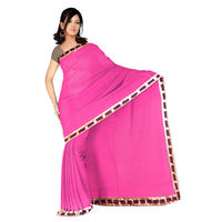 Vamika Georgette Women's Saree,  pink