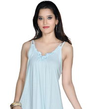 Myra Women Night Dress TS505BU, Blue, L