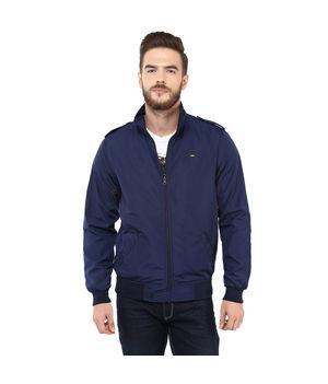 Regular Solid Jacket,  navy, xxl