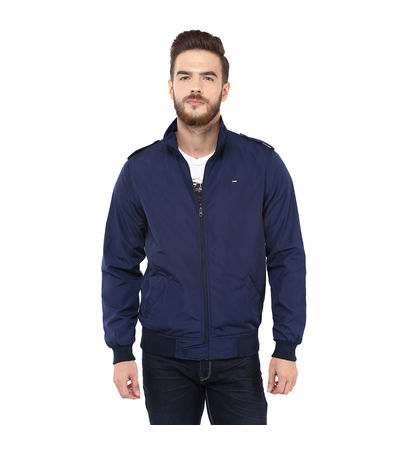 Regular Solid Jacket, xl,  navy