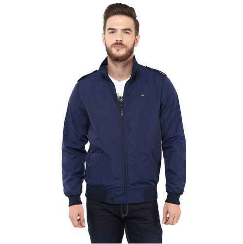 Regular Solid Jacket, xxl,  navy