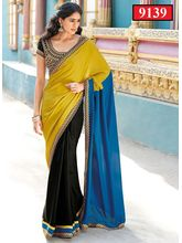 Ethnic Trend Indian Model Georgette Saree, multicolor