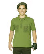 Do U Speak Green Wilderness Mens Short Sleeves Polo Organic T-Shirt - DUSG163FG, Green, Xl