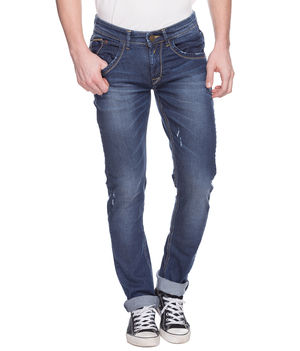 Skinny Low Rise Narrow Fit Jeans, 32,  mid blue