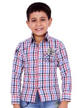 OKS Boys Adoring Casual Cotton Shirt For Boys, red, 26