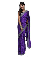 Fav Diva Jacquard Crepe Saree, Multicolor
