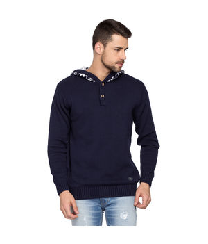 Hooded Sweatshirt, l,  navy