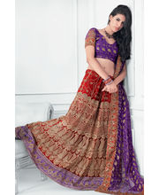 Hypnotex Cotton Designer Lengha Choli XLNC8005B, Multicolor