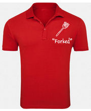 Forked Printed Cotton Polo Tshirt– Kt504, Maroon, L