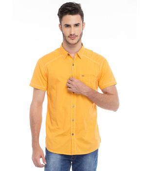 Solid Slim Fit Shirt, l,  mango