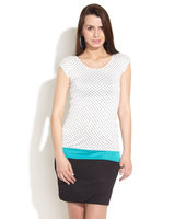 Jealous 21 Colour Block Polka Dress