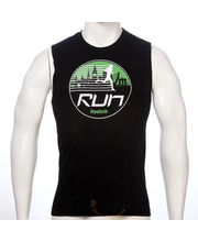 Run Graphic Tank Black