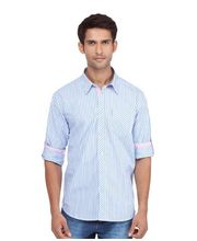 Yepme Stylish Stripes Shirt YPMSHRT0164, Blue, 44