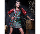 18 Fire Designer Kurti in Grey & Red color (Multicolor, L)