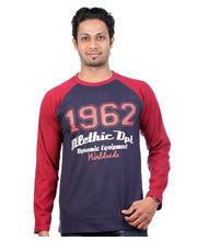 UK Tribes Raglan Full Sleeve T Shirt UKT041, Navy, S