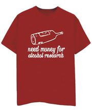 Champu Alcohol Research Men's T-Shirt CHMP_ MT_ 07, Red, L