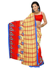 Designer Art Silk Saree With Unstitched Blouse - 29224-RD, Red
