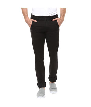 Cross Pocket Slim Fit Trouser, 36,  black
