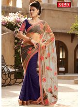 Ethnic Trend Indian Bollywood saree, blue