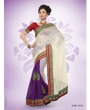 Touch Trends Rachel Viscose & Plain Jute Designer Sarees - 137_ B, Multicolor
