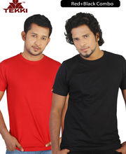 Tekki Red Black Round Neck T Shirt Combo TKI160