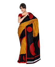 Fabdeal Silk Printed Saree - HLO106184ARM, Multicolor
