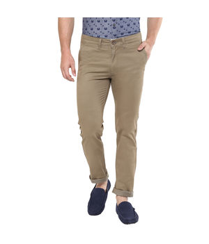 Cross Pocket Slim Fit Trousers,  khaki, 28