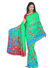 Designer Art Silk Saree With Unstitched Blouse - 30342-GR, Green