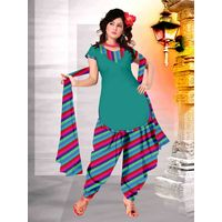 Delhiseven Patiala dress material-D7-USU-07, multicolor