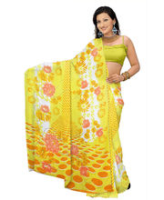 Designer Art Silk Saree With Unstitched Blouse - 27357-YL, Yellow