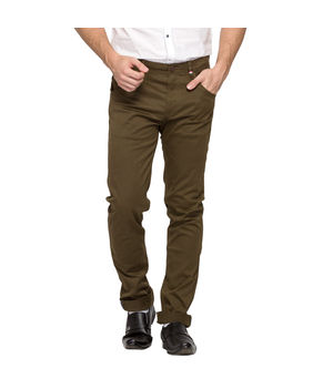 Slim Fit Chinos, 34,  olive