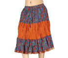 Rajasthani Multicolour Designer Cotton Skirt -191 (Multicolor)