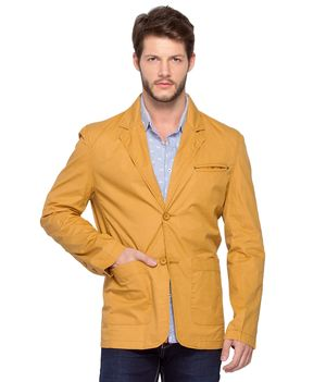 Fashion Regular Blazer Jacket, xxl,  golden khaki