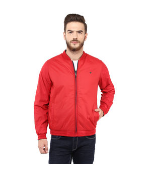 Regular Solid Jacket,  red, l