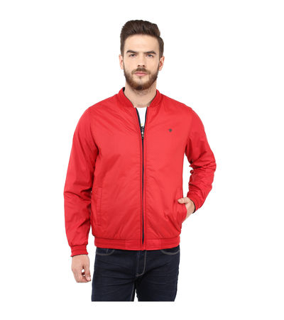 Regular Solid Jacket, m,  red