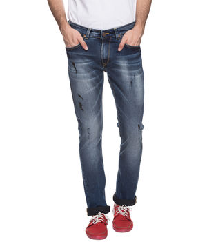 Slim Low Rise Narrow Fit Jeans, 38,  dark blue