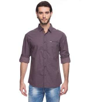 Solid Regular Slim Fit Shirt, xl,  brown
