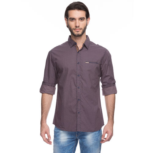 Solid Regular Slim Fit Shirt,  brown, xl