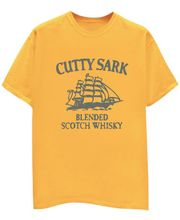 Champu Cutty Sark Men's T-Shirt CHMP_ MT_ 370, Yellow, Xl