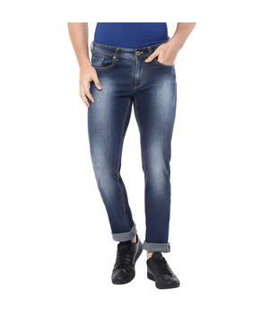 Skinny Low Rise Narrow Fit Jeans,  dark blue, 36