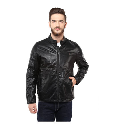 Regular Solid Jacket,  black, l