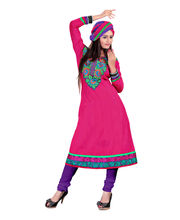 Cotton Bazaar Semi-stiched Salwar Suit - DOQDR1012AC, Pink
