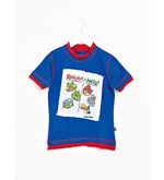 ANGRY BIRDS Applique Poster Tee, blue, 9 10y
