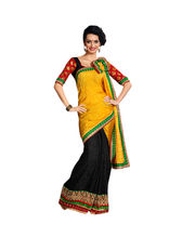 Hypnotex Hastakala Jacquard and Satin Jacquard Saree - Autograph...