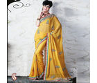 Women Georgette Yellow Saree (Yellow)