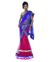 Fav Diva Net Lehanga Saree, Multicolor