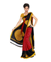 Fabdeal Silk Printed Saree - HLT106256DRM, Multicolor